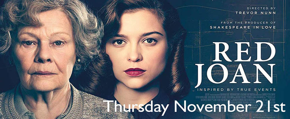 Red Joan Thursday November 21st