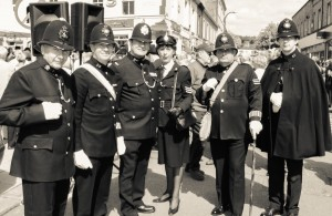 Police re-enactors