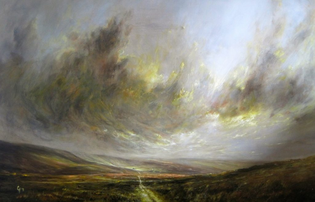 Wild light over Haworth Moor