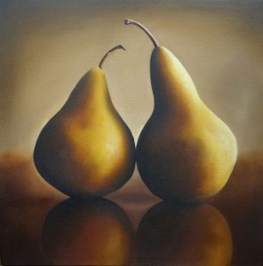 AMY CHARLESWORTH two yellow pears