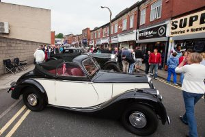 Vintage vehicles at the Brighouse 40s Weekend